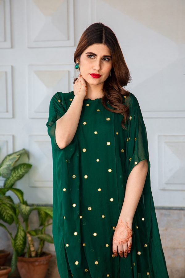 Buy Exclusive Emerald Green Luxury Pret – Sds483 Online In USA, Uk & Pakistan - 03