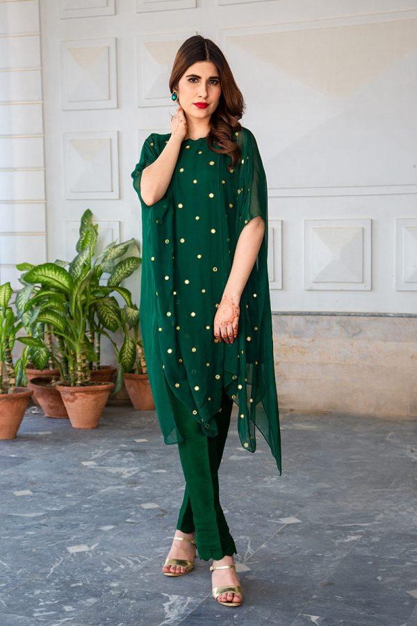 Buy Exclusive Emerald Green Luxury Pret – Sds483 Online In USA, Uk & Pakistan - 04