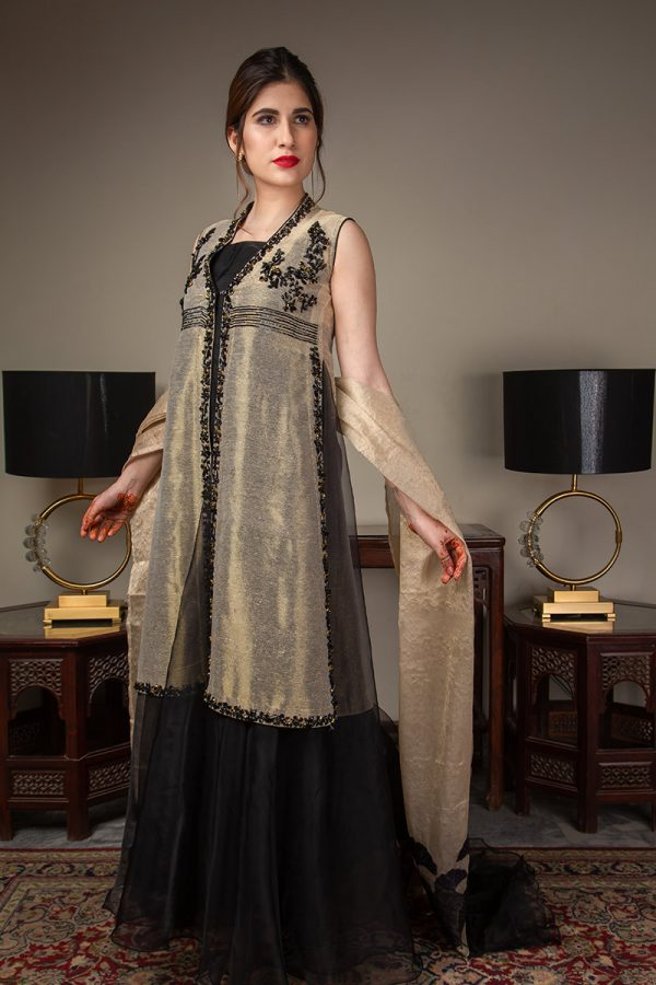 Buy Exclusive Gold And Black Luxury Pret – Sds489 Online In USA, Uk & Pakistan - 03