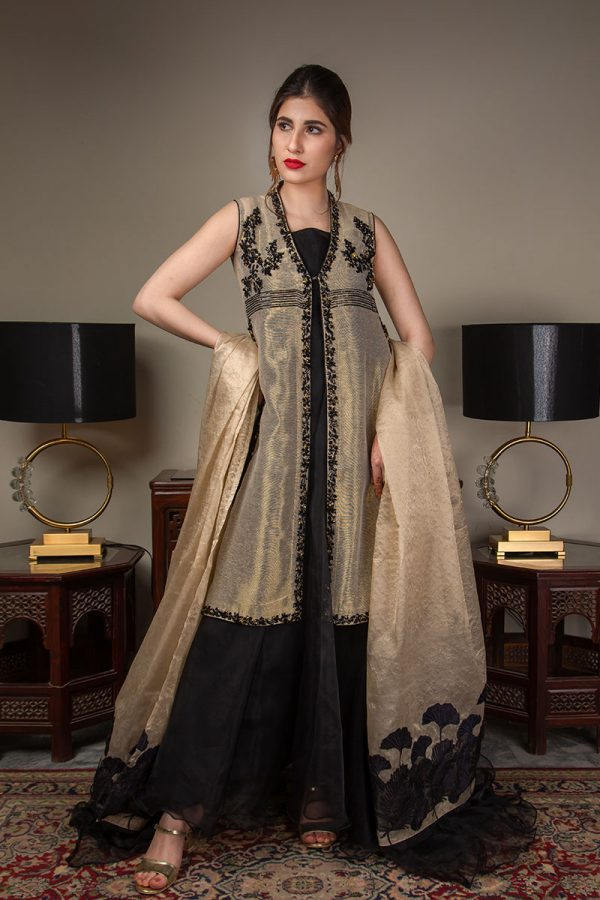 Buy Exclusive Gold And Black Luxury Pret – Sds489 Online In USA, Uk & Pakistan - 04
