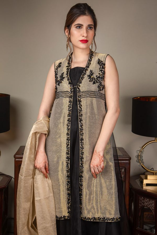 Buy Exclusive Gold And Black Luxury Pret – Sds489 Online In USA, Uk & Pakistan - 05