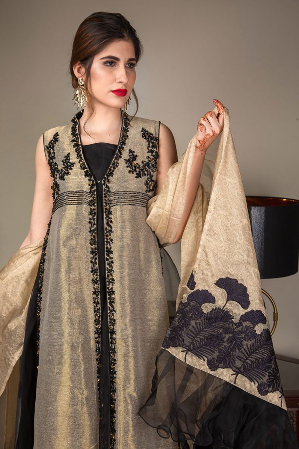 Buy Exclusive Gold And Black Luxury Pret – Sds489 Online In USA, Uk & Pakistan - 07