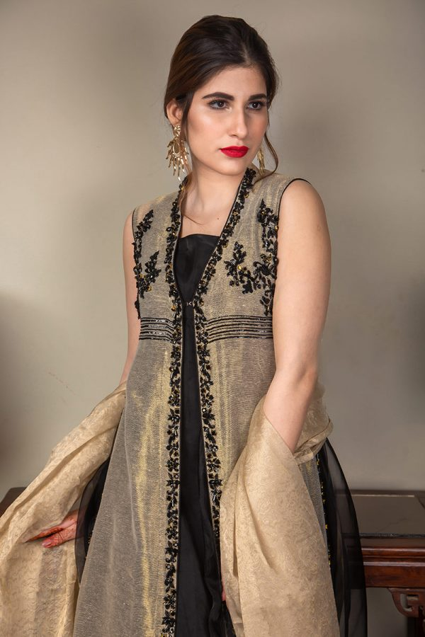 Buy Exclusive Gold And Black Luxury Pret – Sds489 Online In USA, Uk & Pakistan - 08