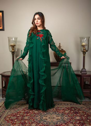 Buy Exclusive Emerald Green Luxury Pret – Sds492 Online In USA, Uk & Pakistan