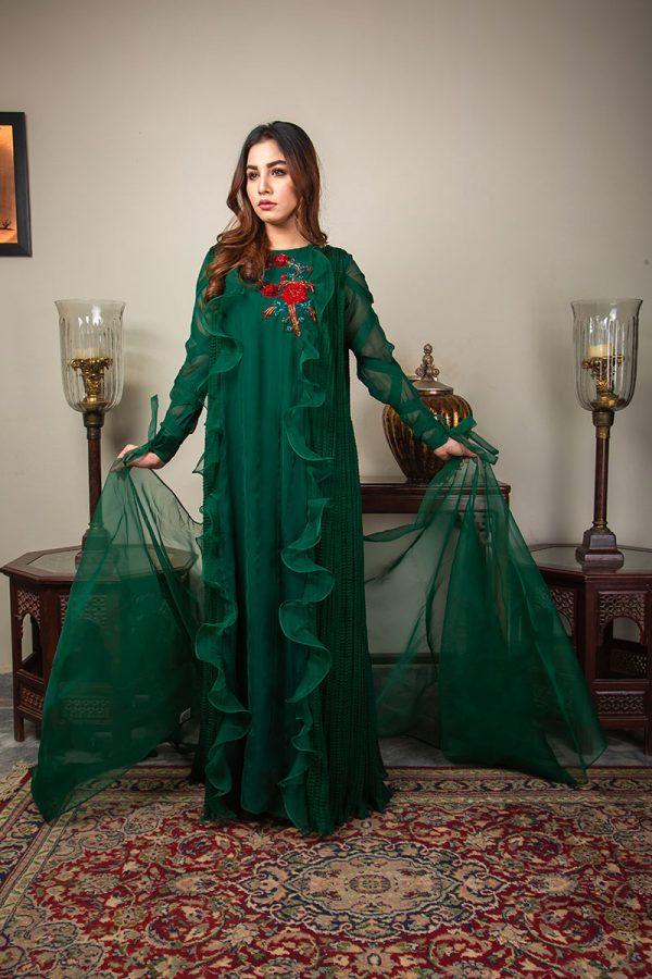 Buy Exclusive Emerald Green Luxury Pret – Sds492 Online In USA, Uk & Pakistan