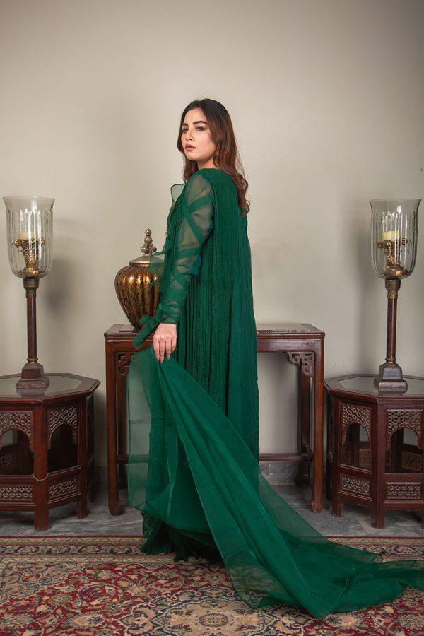 Buy Exclusive Emerald Green Luxury Pret – Sds492 Online In USA, Uk & Pakistan - 03