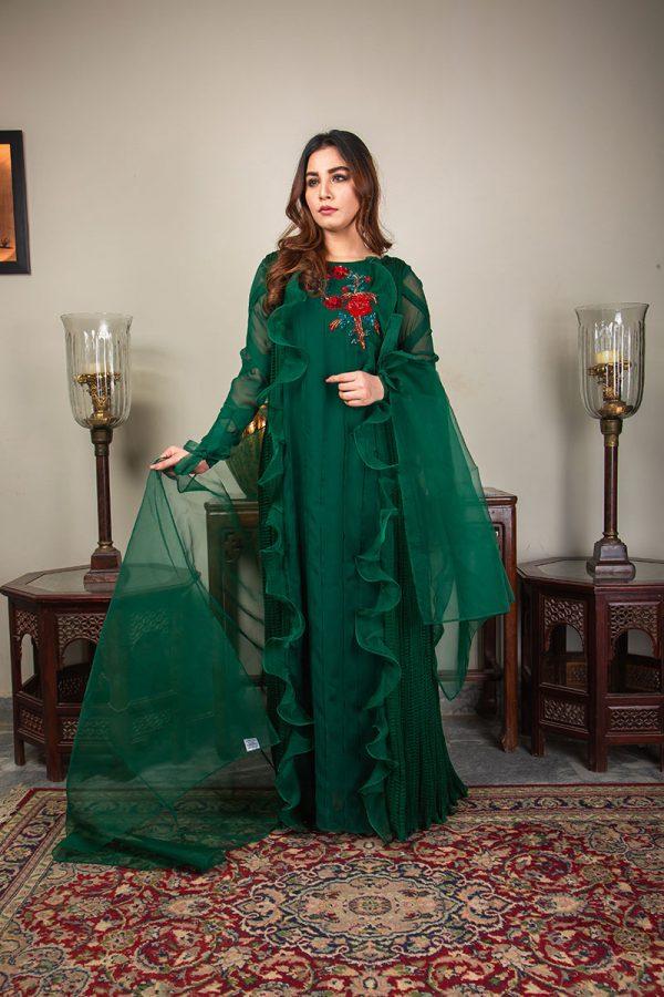 Buy Exclusive Emerald Green Luxury Pret – Sds492 Online In USA, Uk & Pakistan - 05