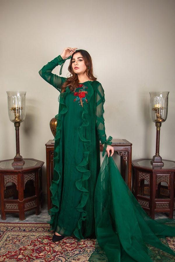 Buy Exclusive Emerald Green Luxury Pret – Sds492 Online In USA, Uk & Pakistan - 08