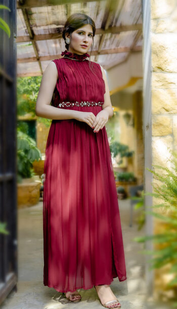 EXCLUSIVE MAROON LUXURY PRET 2021