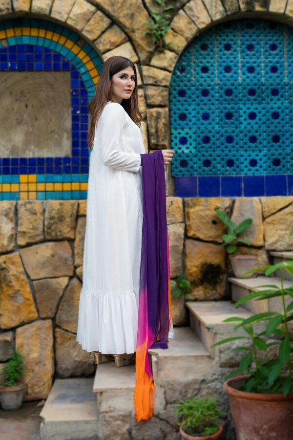 Buy Exclusive White Casual Wear – Afcl26 Online In USA, Uk & Pakistan - 01