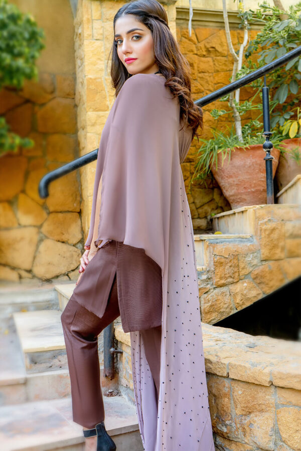 Buy Exclusive Shaded Brown Luxury Pret – Aqs290 Online in UK, USA & Pakistan - 03