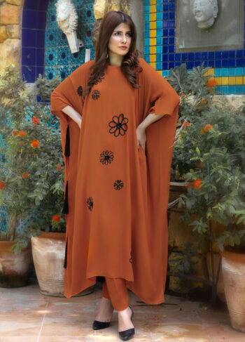 Buy Exclusive Rust Luxury Pret – Aqs338 Online in UK, US & Pakistan - 02
