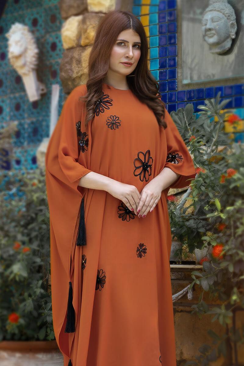Buy Exclusive Rust Luxury Pret – Aqs338 Online in UK, US & Pakistan