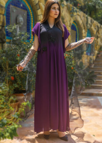 Buy Exclusive Purple And Black Luxury Pret – Aqs339Online in UK, US & Pakistan - 02