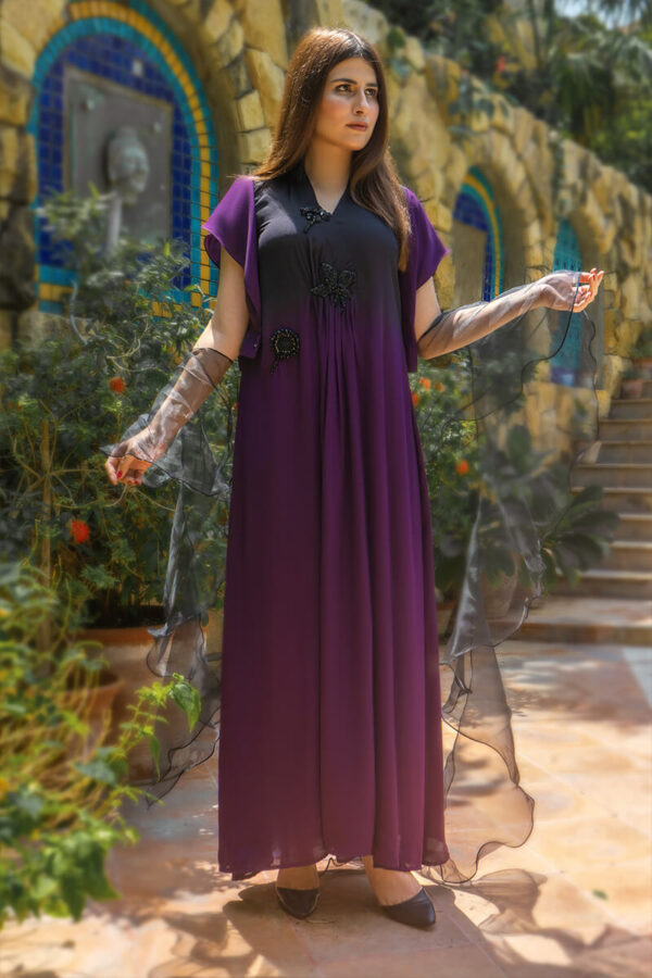 Buy Exclusive Purple And Black Luxury Pret – Aqs339Online in UK, US & Pakistan - 02