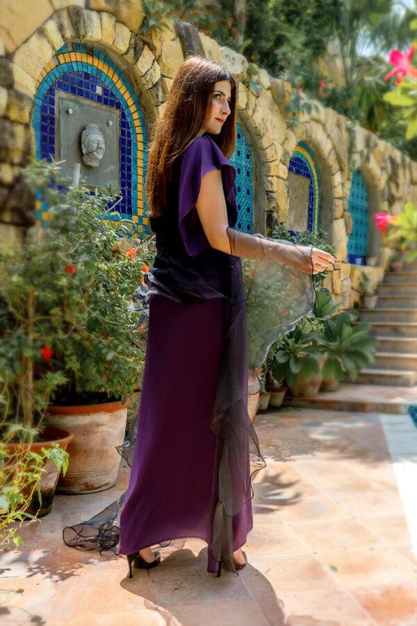 Buy Exclusive Purple And Black Luxury Pret – Aqs339Online in UK, US & Pakistan - 01