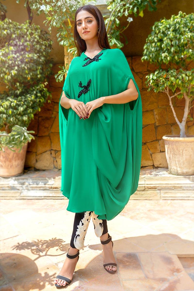 Buy Exclusive Green & Black Party Wear – Aqs340 Online In USA, Uk & Pakistan - 02