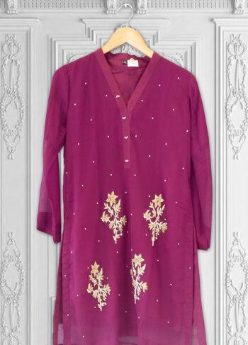 Buy Exclusive Majenta Kurti – Ht60 Online In USA, Uk & Pakistan