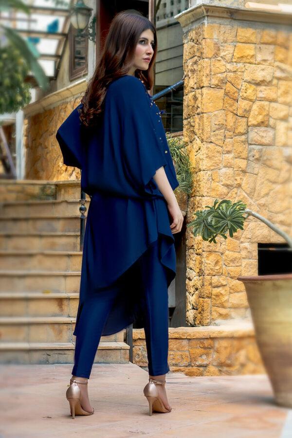 Buy Exclusive Navy Blue Luxury Pret – Sds362 Online in UK, USA & Pakistan - 03