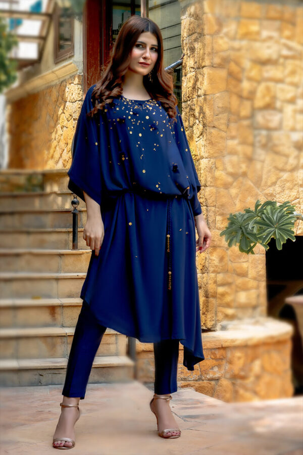 Buy Exclusive Navy Blue Luxury Pret – Sds362 Online in UK, USA & Pakistan - 01
