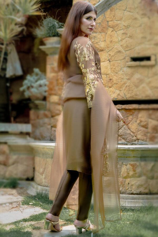 Buy Exclusive Light Brown Luxury Pret – Sds490 Online in UK, USA & Pakistan - 02