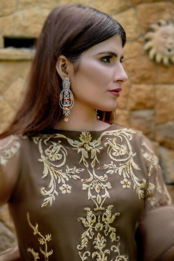 Buy Exclusive Light Brown Luxury Pret – Sds490 Online in UK, USA & Pakistan - 01