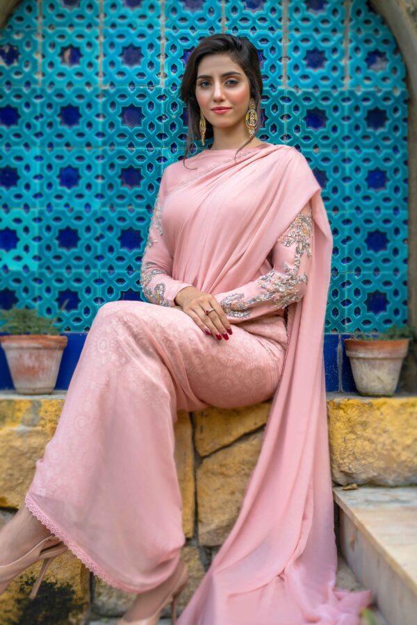Buy Exclusive Pink Luxury Pret – Sds496Online in UK, US & Pakistan - 01