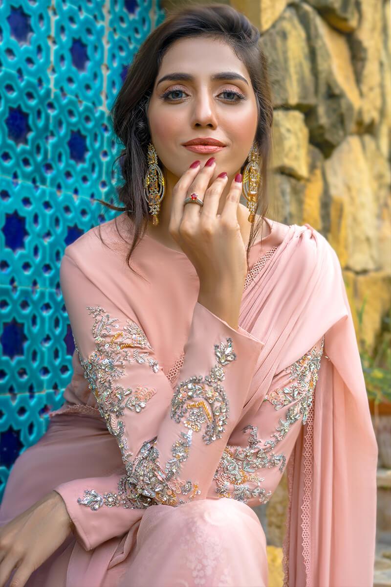 Buy Exclusive Pink Luxury Pret – Sds496Online in UK, US & Pakistan - 02