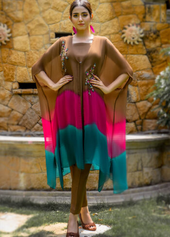 Buy Exclusive Brown, Pink And Seagreen Luxury Pret – Sds499 Online in UK, USA & Pakistan