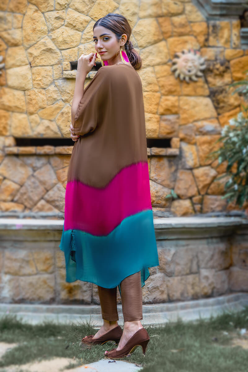 Buy Exclusive Brown, Pink And Seagreen Luxury Pret – Sds499 Online in UK, USA & Pakistan - 03