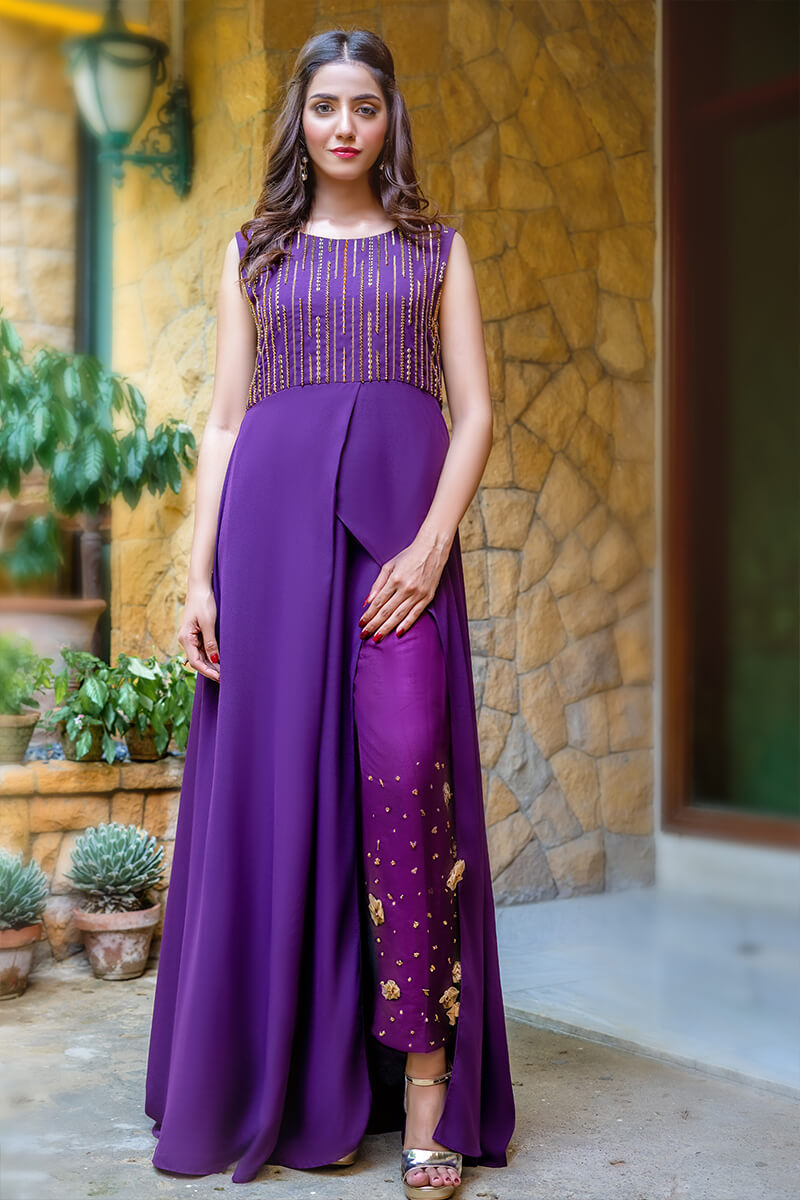 Buy Exclusive Purple Luxury Pret – Sds511Online in UK, US & Pakistan - 02