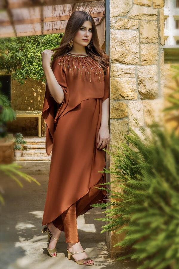 Buy Exclusive Brown Luxury Pret – Sds512Online in UK, US & Pakistan