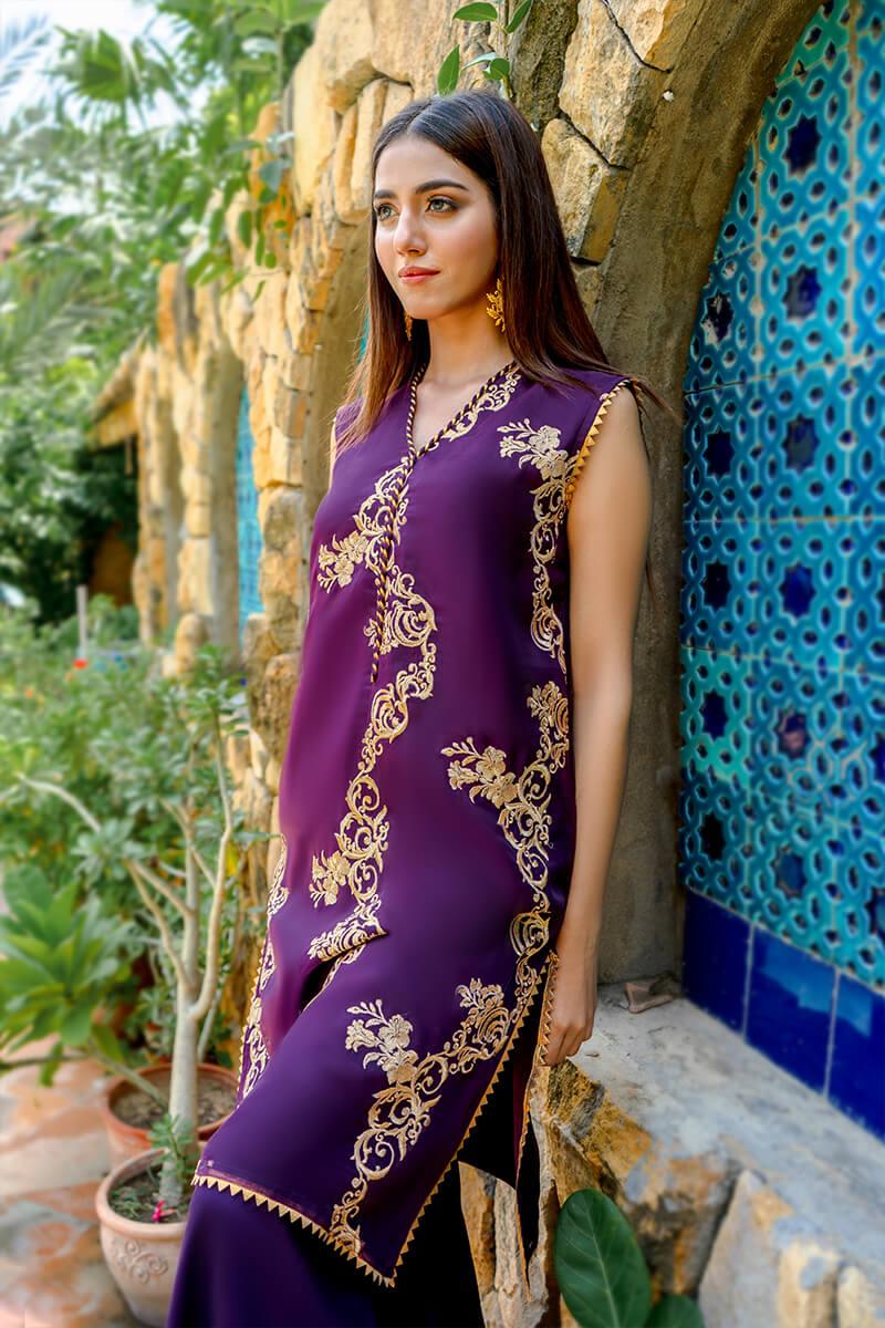 Buy Exclusive Purple Party Wear – Zzs47 Online in UK, USA & Pakistan - 03