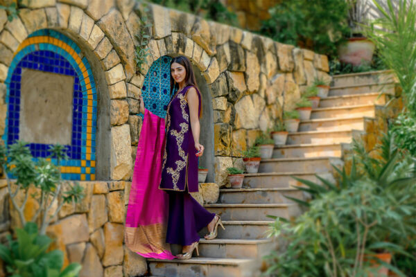 Buy Exclusive Purple Party Wear – Zzs47 Online in UK, USA & Pakistan - 02