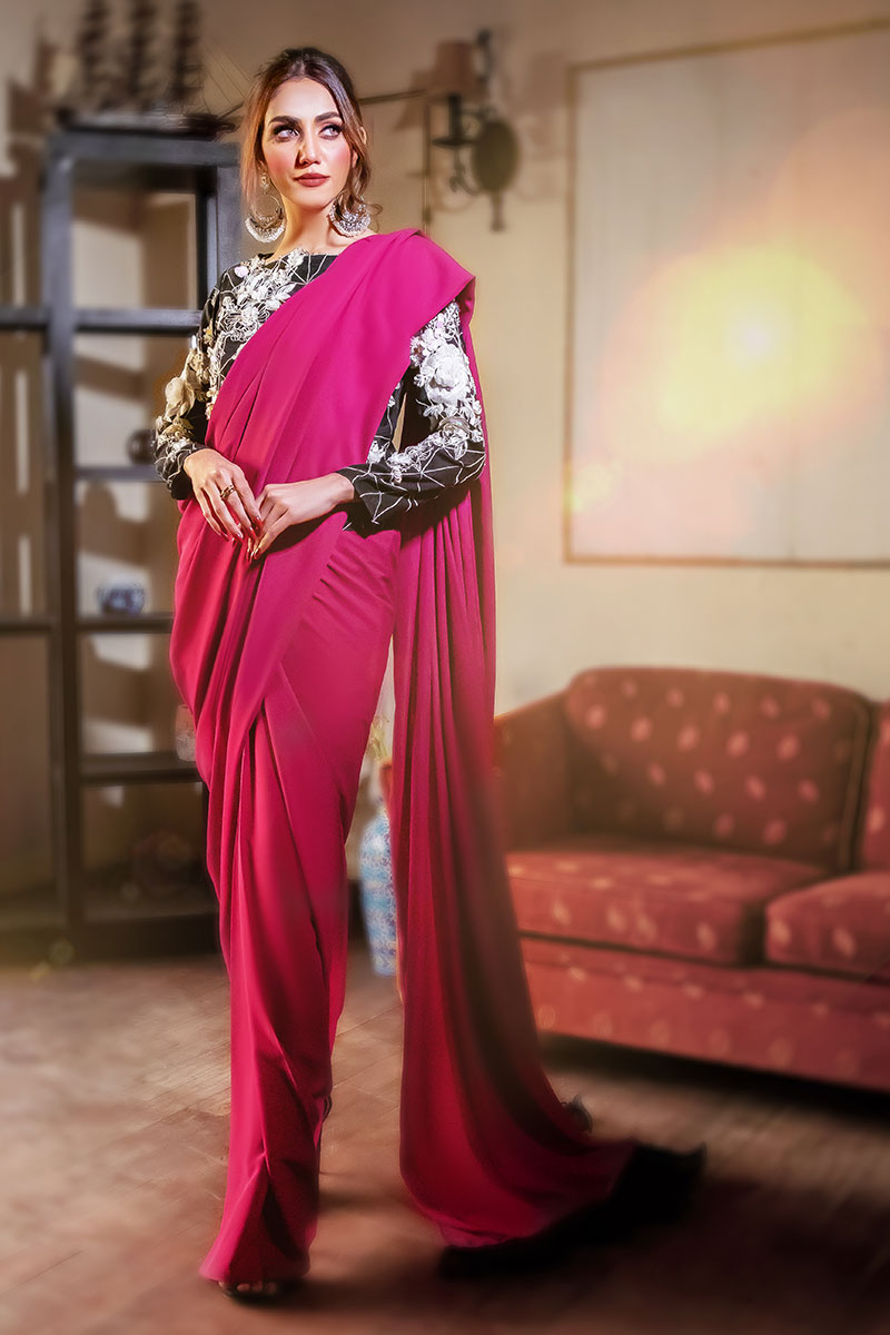 EXCLUSIVE PURPLE AND BLACK PARTYWEAR - AQS336