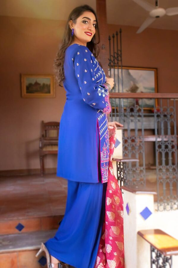 EXCLUSIVE BLUE AND PINK LUXURY PRET 2021