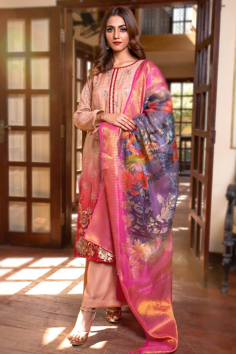 EXCLUSIVE TEA PINK AND RED LUXURY PRET 2021