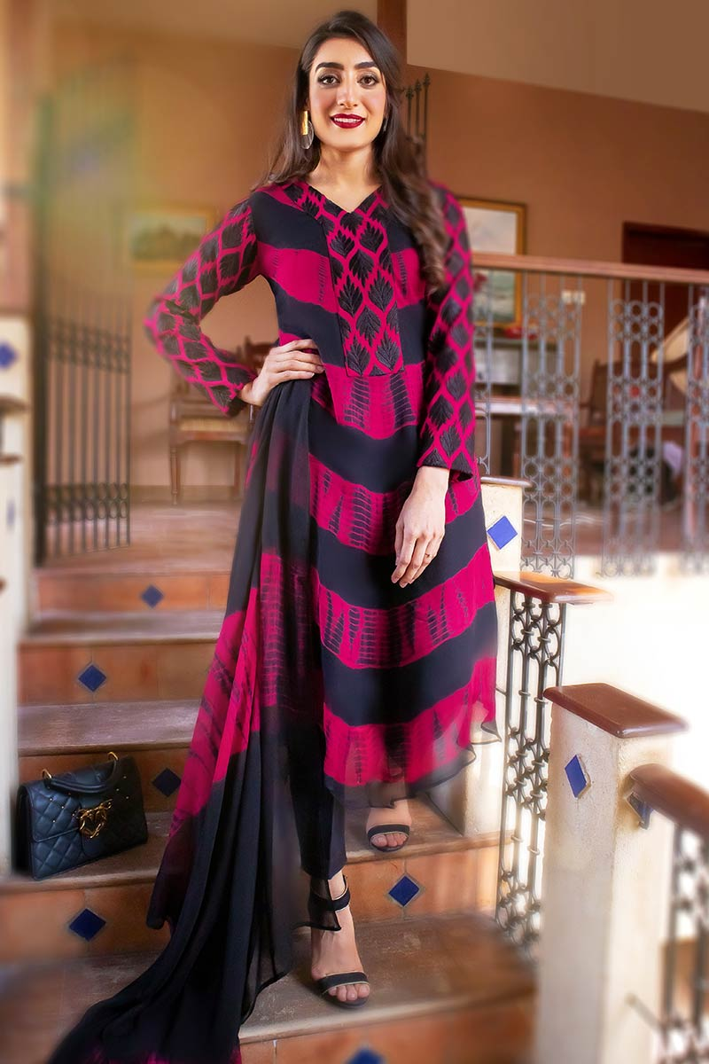EXCLUSIVE PINK AND BLACK CASUAL WEAR 2021