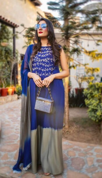 EXCLUSIVE BLUE AND GREY LUXURY PRET - ZZS49